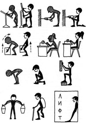 Профилактика болей в спине