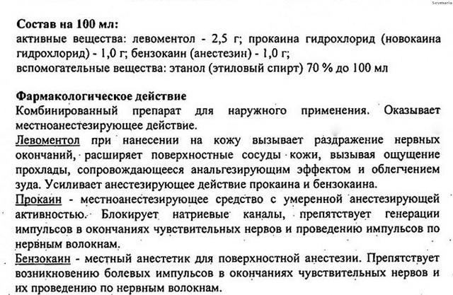 Лекарство Меновазин Инструкция - фото 3