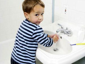 мытье рук для профилактики