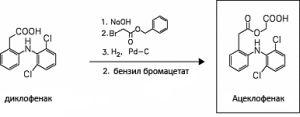Формула ацеклофенака и диклофенака