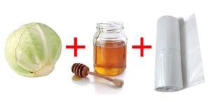 компресс с капустой и медом