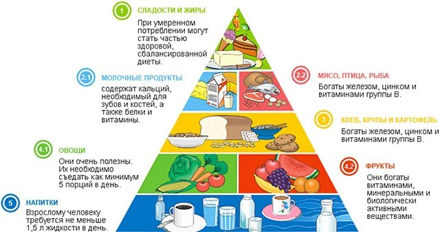 Полезные продукты пирамида