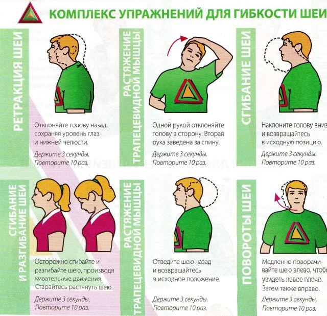 Упражнения для шейной области