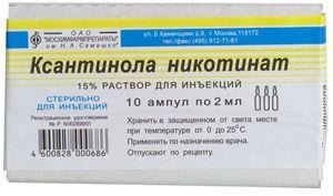 Ксантинола Никотинат при остеохондрозе