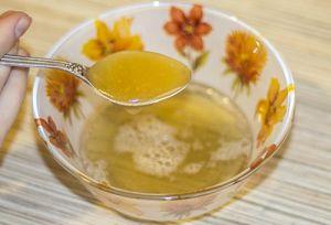 настойка желатина с медом