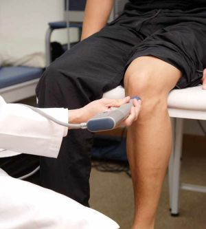 ультразвуковое воздействие на колено
