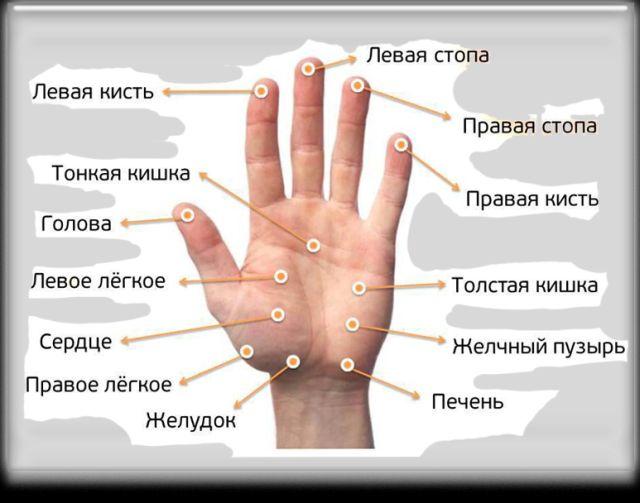 точки на руках для иглоукалывания