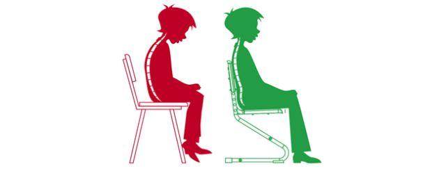 Как правильно сидеть на стуле за столом