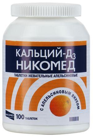 Кальций-Д3 Никомед с апельсином