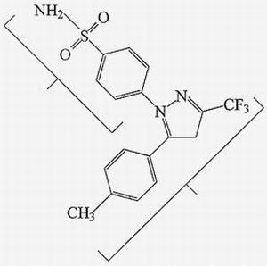 Формула целекоксиба