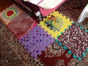 массажный коврик для ног своими руками